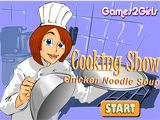 Cooking show chicken noodle soup