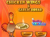 Chicken Wings & Garlic Bread
