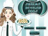 Juego de cocina: camarones con huevo