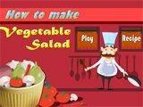 Juegos de cocina: vegetable salad